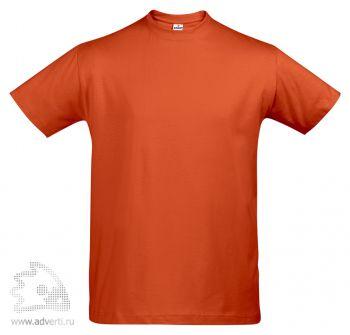 Футболка «First», мужская, оранжевая