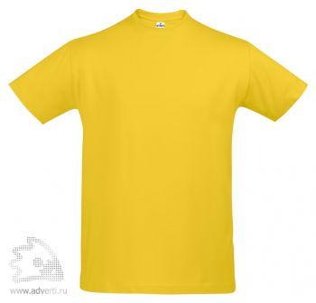 Футболка «First», мужская, желтая