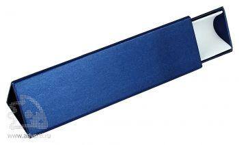 Треугольный футляр для одной ручки, синий