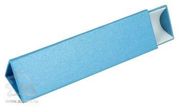 Треугольный футляр для одной ручки, голубой