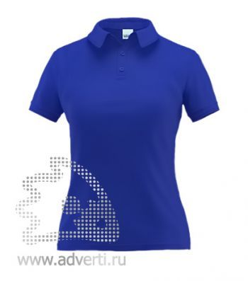 Рубашка поло «Stan Premium W», женская, синяя