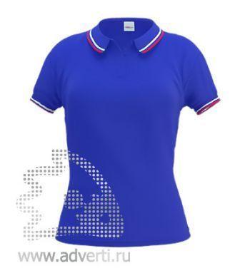 Рубашка поло «Stan Russian W», женская, синяя