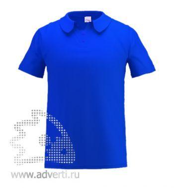 Рубашка поло под сублимацию «Stan Poly», мужская, синяя