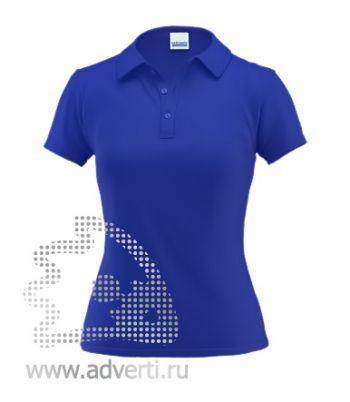 Рубашка поло под сублимацию «Stan Poli W», женская, синяя
