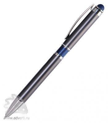 Шариковая ручка Aurora, серая с синим