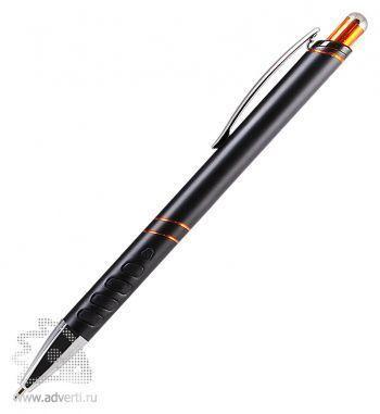 Шариковая ручка «Space», черная с оранжевым