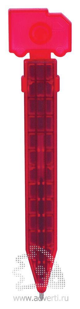 Промо-ручка на магните «Грузовик», красная