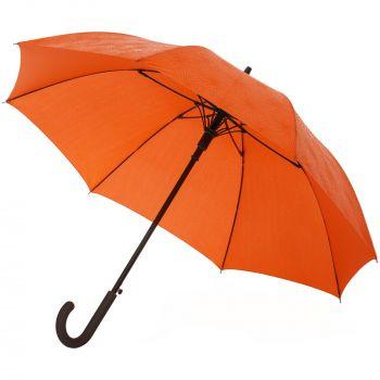 Зонт-трость «Magic», с проявляющимся цветочным рисунком, оранжевый