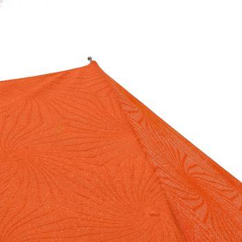 Зонт-трость «Magic», с проявляющимся цветочным рисунком, оранжевый, часть зонта, с рисунком