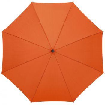 Зонт-трость «Magic», с проявляющимся цветочным рисунком, оранжевый, купол