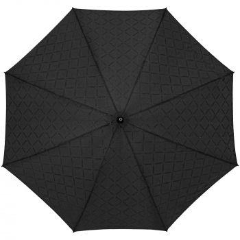 Зонт-трость «Magic», с проявляющимся рисунком в клетку, черный, купол мокрый