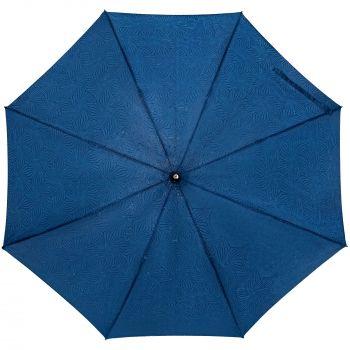 Зонт-трость «Magic», с проявляющимся цветочным рисунком, темно-синий, купол мокрый