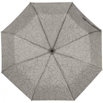 Складной зонт «Tracery», с проявляющимся рисунком, купол, с рисунком