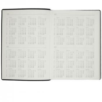 Ежедневник Tact, А5, черный, календарь