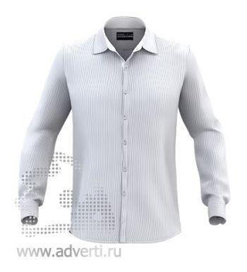 Рубашка «Stan Best», мужская, серая в белую полоску