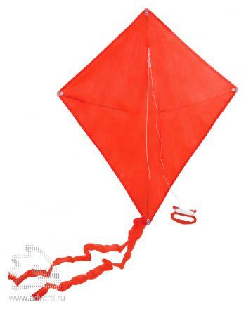 Воздушный змей «Ромб», красный