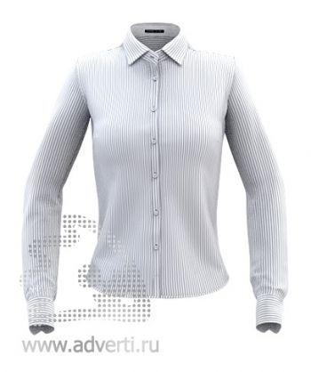 Рубашка «Stan Best W», женская, серая в белую полоску