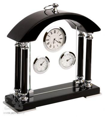 E-175319 Погодная станция «Черный Бриллиант»: часы, термометр, гигрометр