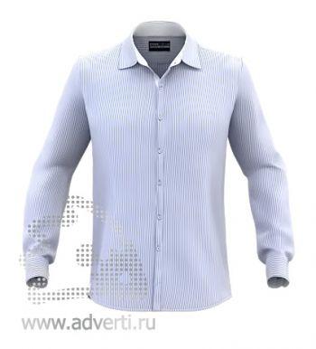 Рубашка «Stan Best», мужская, голубая в белую полоску