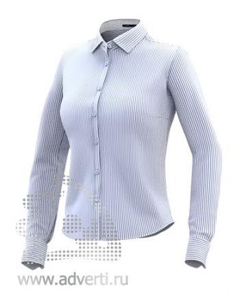 Рубашка «Stan Best W», женская, голубая в белую полоску