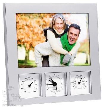Рамка для фотографии 10х15 см c часами