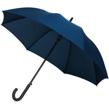 Зонт-трость «Magic», с проявляющимся рисунком в клетку, темно-синий