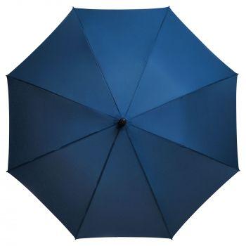 Зонт-трость «Magic», с проявляющимся рисунком в клетку, темно-синий, купол