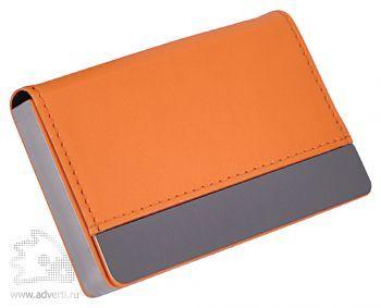 Визитница «Горизонталь», оранжевый