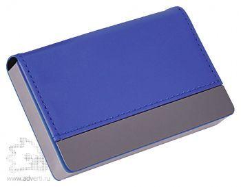 Визитница «Горизонталь», синий