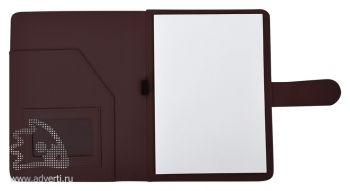Папка А5 «Classic», коричневая (внутренний дизайн)