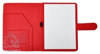Папка А5 «Classic», красная (внутренний дизайн)