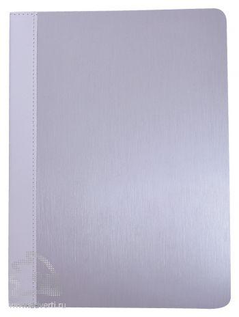 Папка А5 с блокнотом «Aluminium», белая