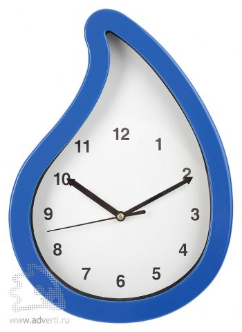 Часы настенные «Капля нефти», синие