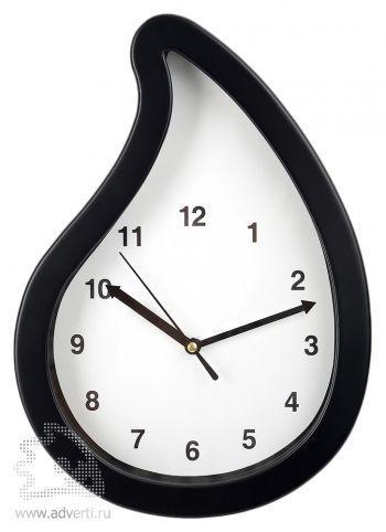 Часы настенные «Капля нефти», черные