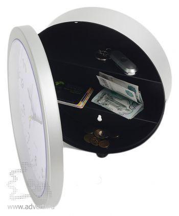 Часы настенные «Хранитель времени» со встроенным сейфом, открытые
