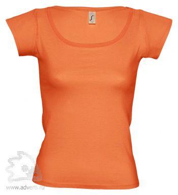 Футболка с глубоким вырезом «Melrose 150», женская, оранжевая
