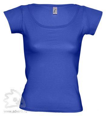 Футболка с глубоким вырезом «Melrose 150», женская, синяя