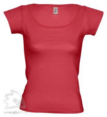 Футболка с глубоким вырезом «Melrose 150», женская, красная
