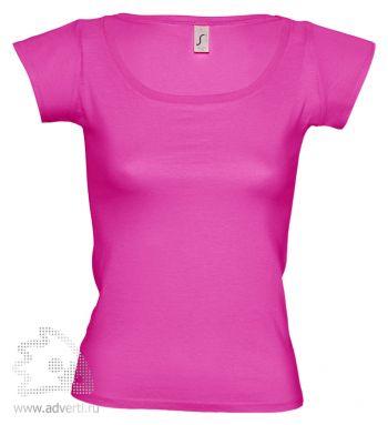 Футболка с глубоким вырезом «Melrose 150», женская, розовая