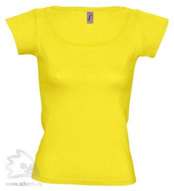 Футболка с глубоким вырезом «Melrose 150», женская, ярко-желтая