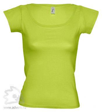 Футболка с глубоким вырезом «Melrose 150», женская, светло-зеленая