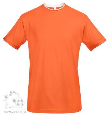 Футболка с контрастной отделкой «Madison 170», мужская, оранжевая
