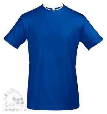Футболка с контрастной отделкой «Madison 170», мужская, синяя