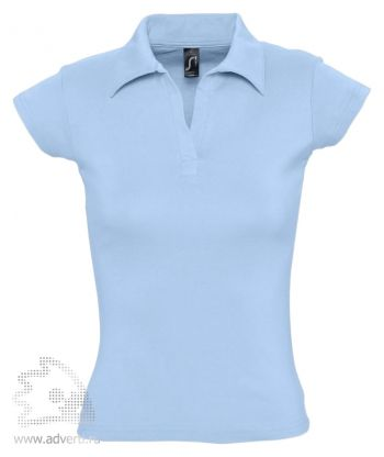 Рубашка поло без пуговиц «Pretty 220», женская, голубая