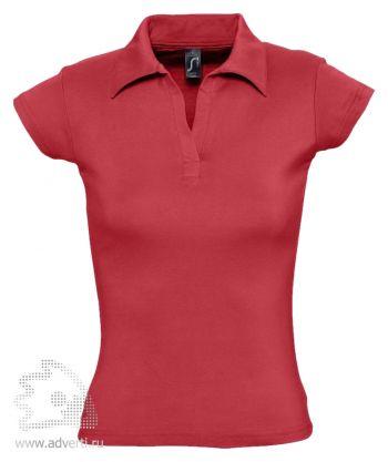Рубашка поло без пуговиц «Pretty 220», женская, красная