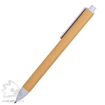 Ручка картонная шариковая «Эко 2.0», белая, сбоку