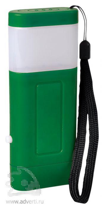 Фонарь с двумя режимами подсветки зеленый