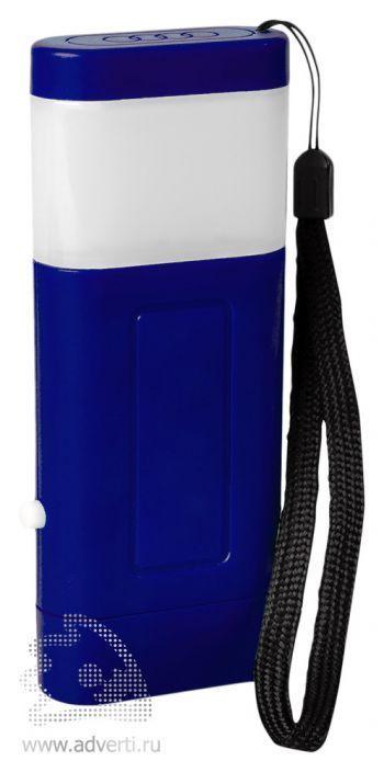 Фонарь с двумя режимами подсветки синий