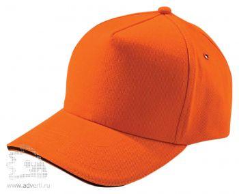 Бейсболка «Unit Classic», оранжевая с черным