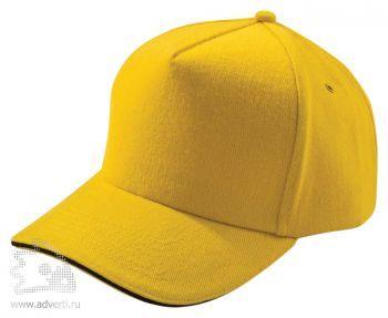 Бейсболка «Unit Classic», желтая с черным